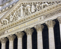 New York Stock Exchange Wall Street. New York Stock Exchange arguably the most famous stock exchange in the world Royalty Free Stock Photo