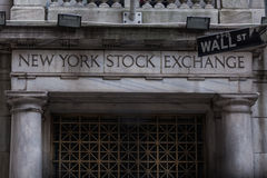 The New york Stock Exchange. On wall street royalty free stock photo