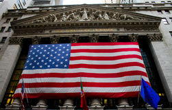 New York Stock Exchange, Wall Street Lizenzfreies Stockfoto