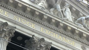 New York Stock Exchange on Wall Street stock footage