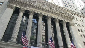 New York Stock Exchange on Wall Street stock video footage