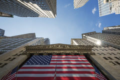 The New York Stock Exchange on Wall Street Royalty Free Stock Image