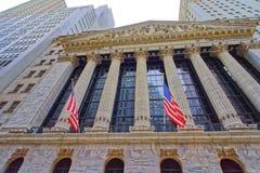 New York Stock Exchange on Wall Street in Lower Manhattan Stock Image