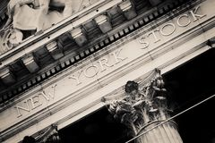 The New York Stock Exchange at Wall Street in New York Royalty Free Stock Photos