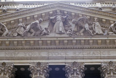 New York Stock Exchange, Wall Street, New York, NY Fotografia Stock