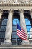 New York Stock Exchange on Wall Street in New York, USA Royalty Free Stock Image