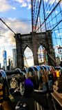 New York stole my heart. Brooklyn bridge in New York City Royalty Free Stock Images