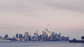 New York stole my heart!. A view of New York City royalty free stock photography