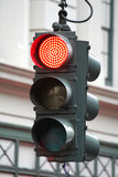 New York Stoplight. Red Stop light sign in New York City stock photos