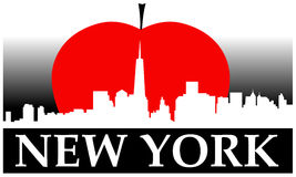 New York stora Apple Royaltyfri Bild