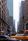 New York street. People and Traffic in New York street Stock Photography