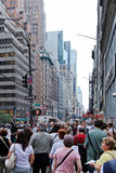New York street. People and Traffic in New York street Stock Image