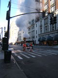 New York Street. Typical new york street complete with steam from the sewer Stock Photography