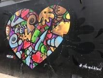 New York street art heart colorfull NY Royalty Free Stock Photography