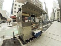 New York street cart Stock Image