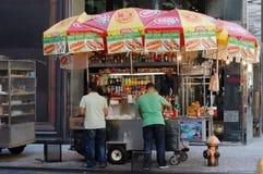 New York Street Food Cart Stock Image