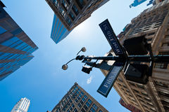 New York street sign royalty free stock photo