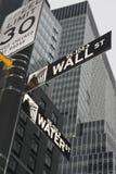 New York - Street Sign. Street Sign in New York City Stock Photo