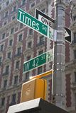 New York - Street Sign. Street Sign in New York City Royalty Free Stock Photo