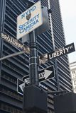 New York - Street Sign. Street Sign in New York City Royalty Free Stock Photos