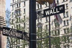 New York - Street Sign. Street Sign in New York City Stock Photos
