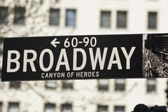New York - Street Sign. Street Sign in New York City Stock Photography