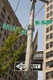 New York - Street Sign. Street Sign in New York City Stock Image