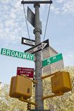 New York - Street Sign. Street Sign in New York City Stock Images