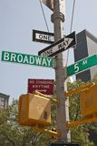 New York - Street Sign. Street Sign in New York City Royalty Free Stock Images