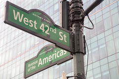 New York - Street Sign. Street Sign in New York City Royalty Free Stock Image