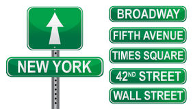 New York Street signs stock illustration
