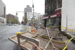 New york street after storm Sandy. Aftermath of super storm Sandy Royalty Free Stock Photography