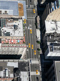 New york streets. New york city streets, sky view Stock Photography