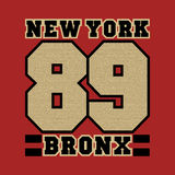 New York, striker bronx, the best in the team,. New York bronx, the best in the team, basketball printing, sports T-shirt, fashion graphic design, printing Royalty Free Stock Image