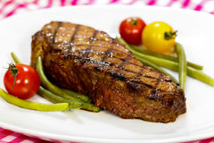 New York Strip Steak with green Beans Stock Image