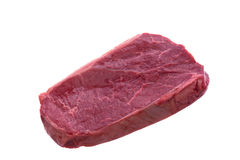 New York Strip Steak,isolated on white stock photography