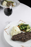 New York Strip Steak with Mashed Potatoes and Mixed Vegetables Stock Images