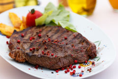 New York Strip Steak with Vegetables Stock Photography