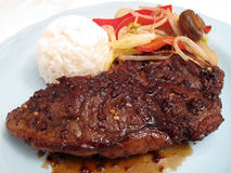 New York Strip Teriyaki Royalty Free Stock Photography