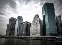 New York. Stunning view of lower Manhattan Skyline on a afternoo Stock Photography