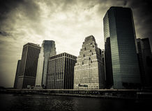 New York. Stunning view of lower Manhattan Skyline on a afternoo Royalty Free Stock Images