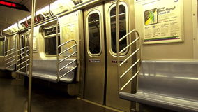New York Subway Car empty USA cityscapes. New York Subway Car empty United States cityscapes videoclip stock video footage
