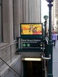 New York Subway entrance Stock Photography