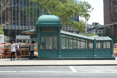 New York Subway Entrance Royalty Free Stock Images