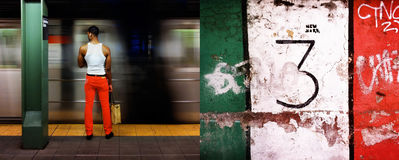 New York Subway and Italian Flag Royalty Free Stock Images