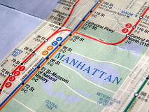 New York subway map Stock Photo