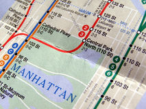 New York subway map Royalty Free Stock Photos
