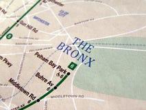 New York subway map stock photo