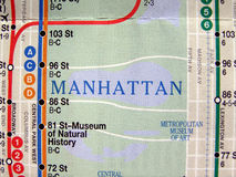 New York subway map Royalty Free Stock Photography