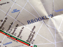New York subway map Stock Images